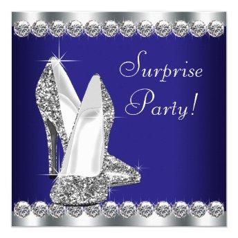 Womans Royal Blue Surprise Birthday Party