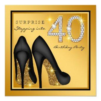 Womans Surprise 40th Birthday Party