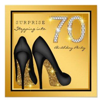 Womans Surprise 70th Birthday Party