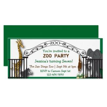 Zoo Party Invitation